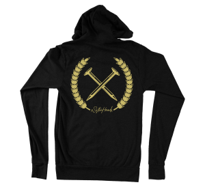 Nailed to the x hoodie - straight edge hoodie, hooded sweatshirt back