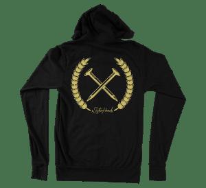 Nailed to the x hoodie - straight edge hoodie, hooded sweatshirt back