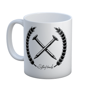 Nailed to the X straight edge xsisterhoodx mug