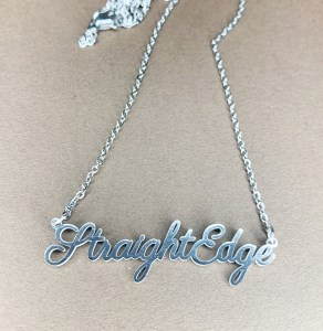 straight edge necklace