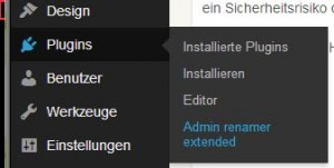 Wordpress Admin ändern