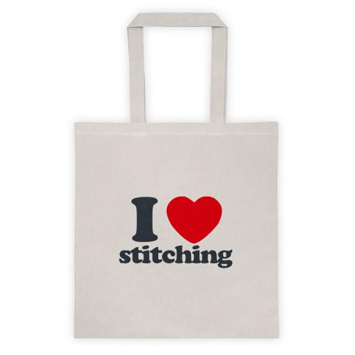 I Heart Stitching Tote Bag