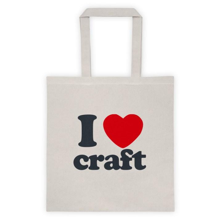 I Heart Craft Tote Bag