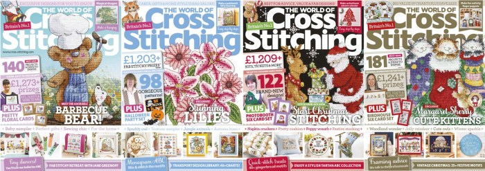 The World of Cross Stitching covers for September to December 2018