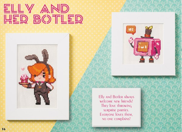 Todo Asano - Elly & Her Botler design for XStitch Magazine Issue 9