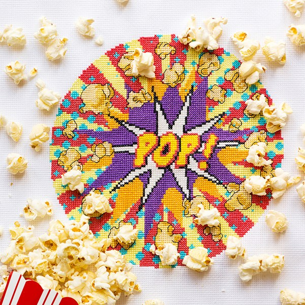 Apple Tree Cross Stitch - Popcorn