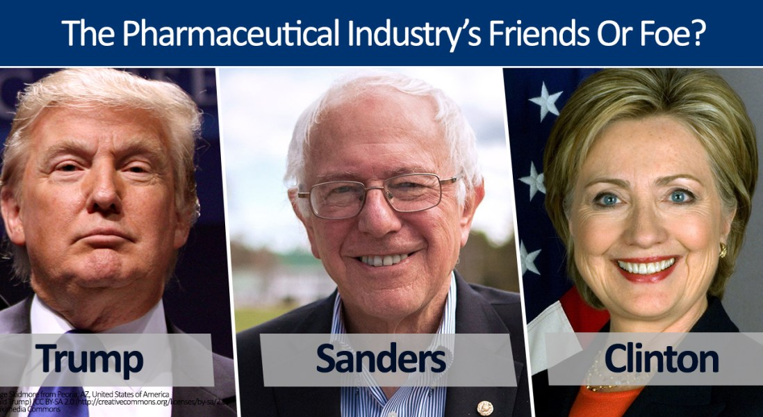 Trump, Sanders and Clinton: Pharmaceutical Industry's Friends Or Foe?