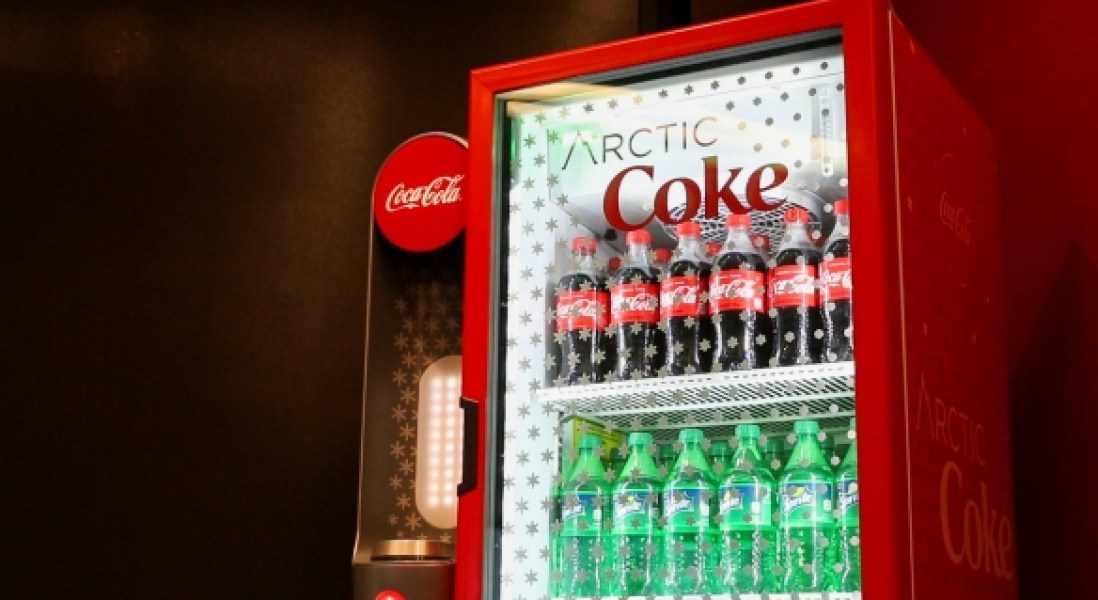 Coca-Cola Advertising Cooler That Can Instantly Freeze Drinks to Slushy Consistency