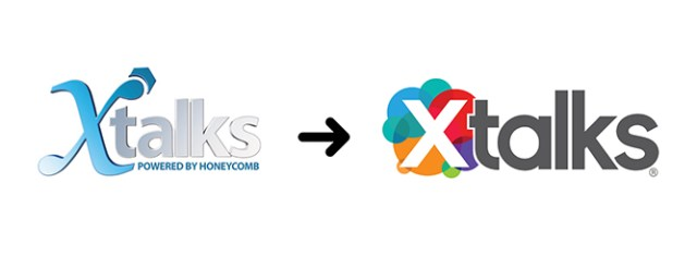 Old and New Versions of Xtalks logo