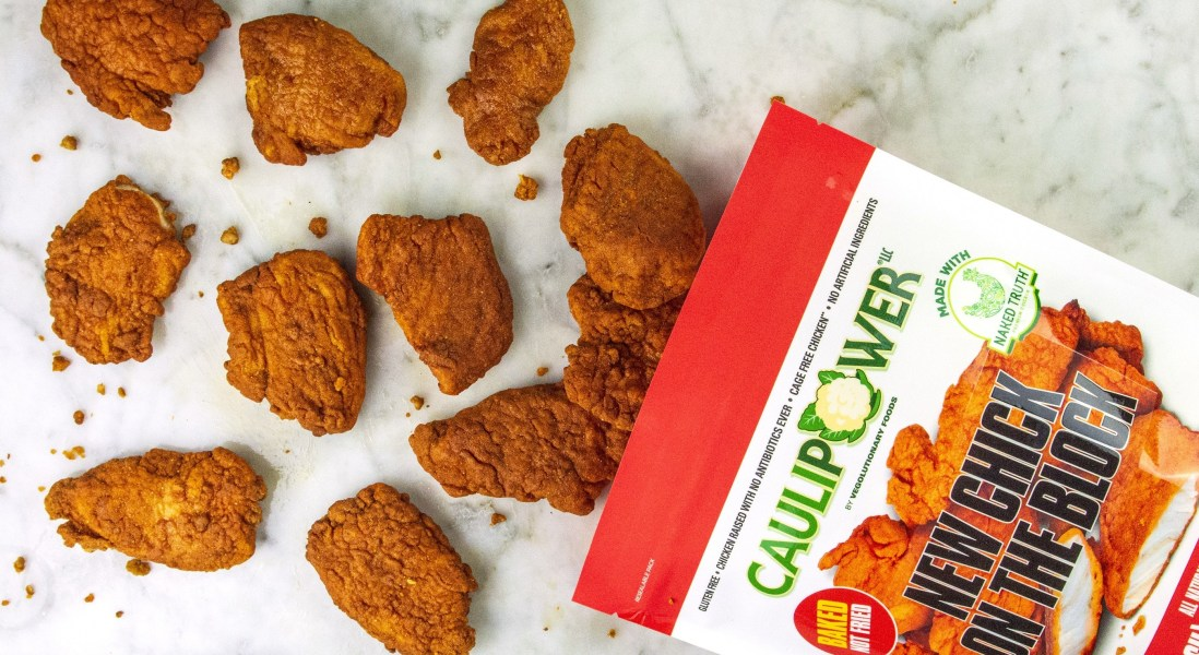 Cauliflower-Crusted Chicken Tenders Fly into The Frozen Aisle