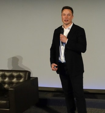 Elon Musk at the Neuralink news conference. Image courtesy of Steve Jurvetson.