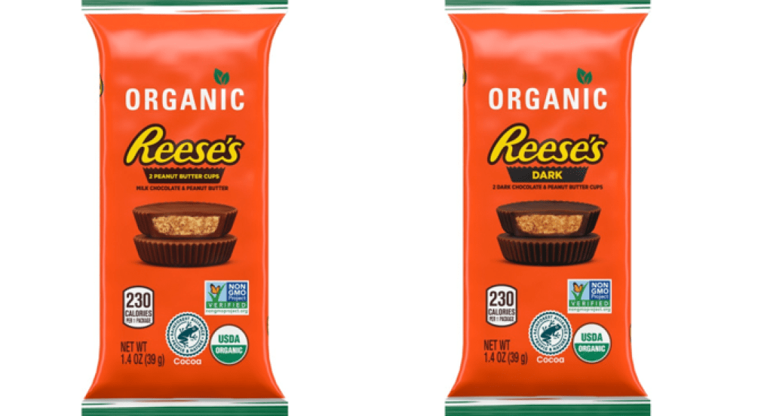 Hershey's Organic Reese's Peanut Butter Cups Tap Into Better-for-You Branding