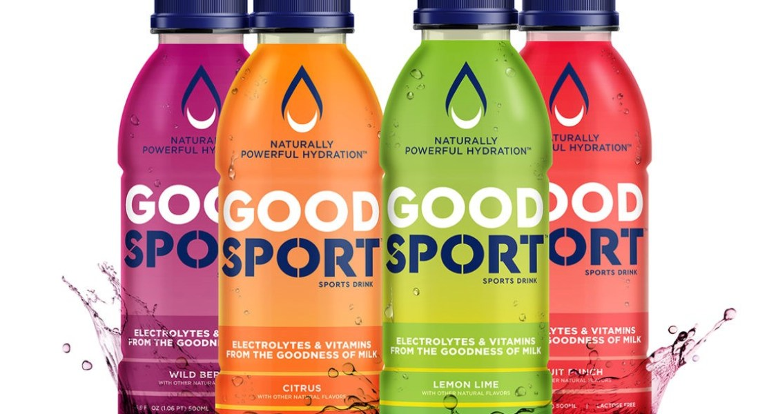 GoodSport Milk-Based Sports Drink Upcycles Dairy Byproduct