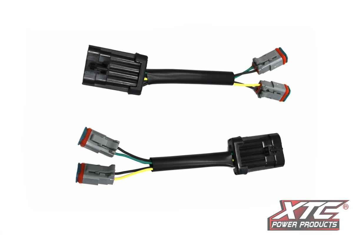 Rzr Xp Plug Amp Play Headlight Adapter Harness To 2 Deutsch