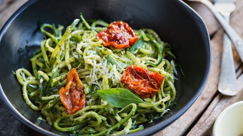 Zesty Pesto Zoodles