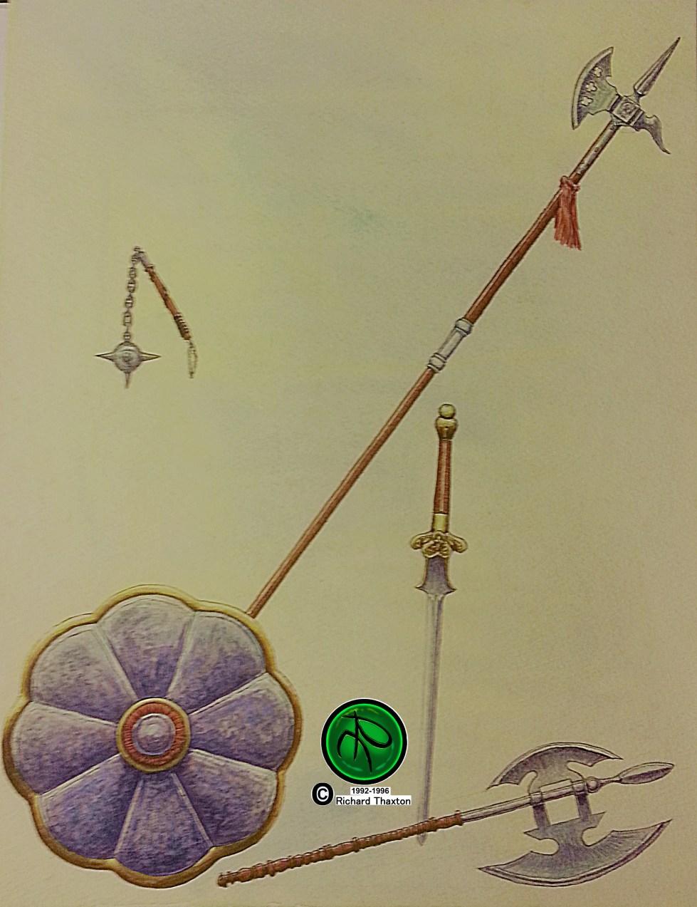 Weapon Study Watercolor 1992-1996 wLOGO