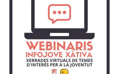 Joventut ofereix «Webinaris» sobre temes d'interès explicats per tècnics i joves professionals de Xàtiva