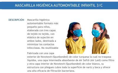 El PP de Xàtiva denúncia que les mascaretes que va repartir l'Ajuntament per als xiquets no són reutilitzables