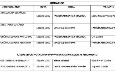 El CV Xàtiva comença la temporada oficial amb diversos equips