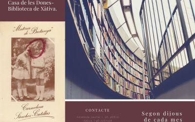 La Biblioteca Municipal de Xàtiva organitza un club de lectura trimestral