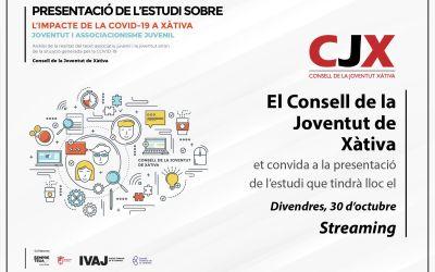 El CJX presenta l'estudi sobre l'impacte de la Covid-19 en la joventut de Xàtiva