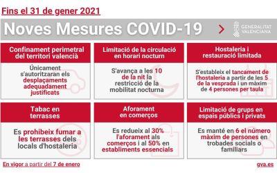 Entren en vigor les noves mesures autonòmiques per fer front a la COVID-19