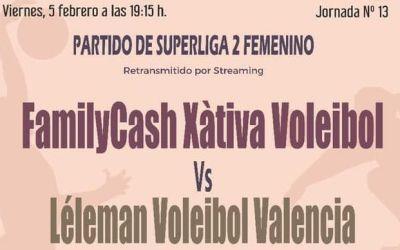 Doble enfrontament per al Familycash Xátiva Voleibol femení