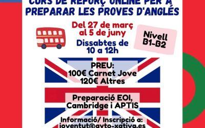 La regidoria de Joventut de Xàtiva organitza un curs d'anglés en línia
