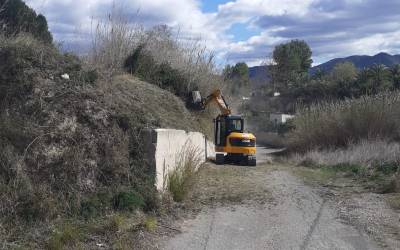 L'Ajuntament de Xàtiva realitza més d'una desena d'actuacions a diferents camins i accessos a Bixquert