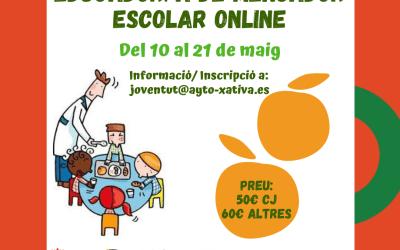 L'Ajuntament de Xàtiva organitza un curs d'Educador de Menjador escolar per al proper mes