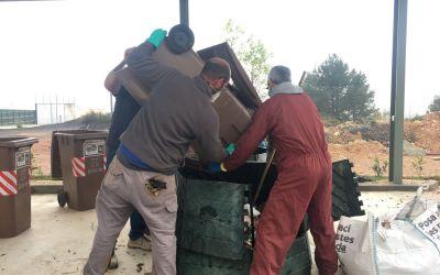 La Font de la Figuera comença amb èxit la recollida dels residus orgànics
