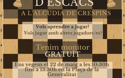 L'Alcúdia de Crespins organitza la I Trobada d'Escacs