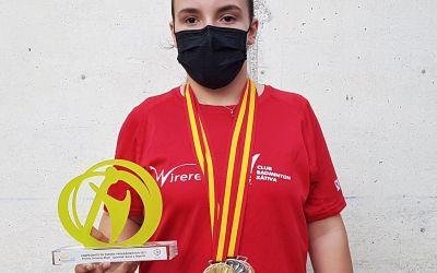 Selenia Pla es penja tres medalles en el seu primer Campionat d'Espanya de parabádminton