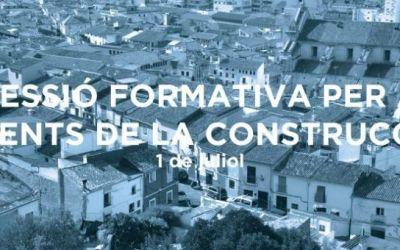 El Pla Xàtiva realitza aquesta setmana una sessió formativa destinada a agents de la construcció i la rehabilitació