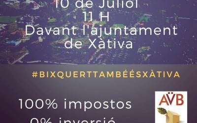 L'Associació de Veïns i Veïnes de Bixquert convoca una concentració per reclamar inversions