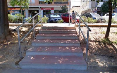 L'Ajuntament de Canals millora l'accés per a vianants a l'aparcament de l'Avinguda Jaume I