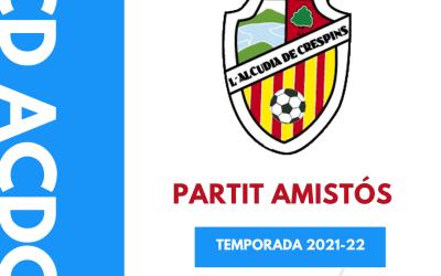 El CD L'Alcúdia de Crespins disputa hui el seu primer partit de pretemporada