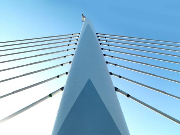 steel ropes of the bridge
