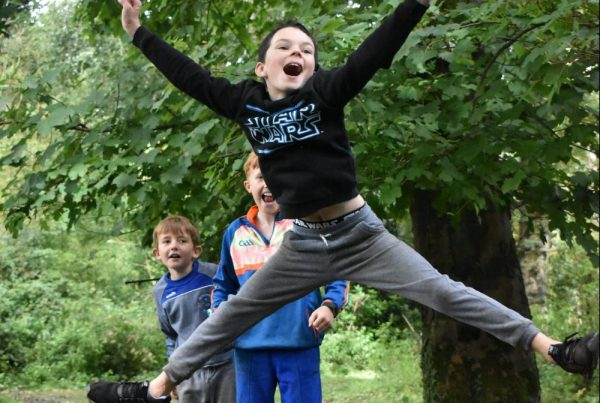 Boys jumping for joy at Xtreme.ie's Midterm Camps at Carton House.