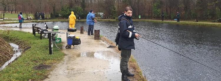 Forelvissen op Toms Creek
