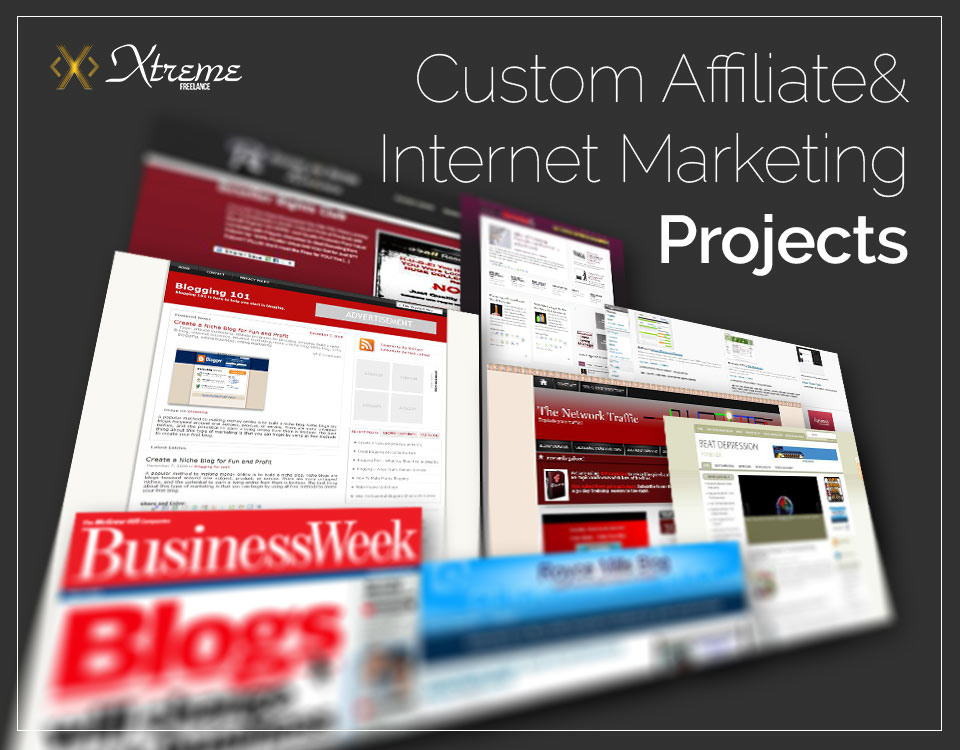 Various Affiliate and Internet Marketing Custom Blogs