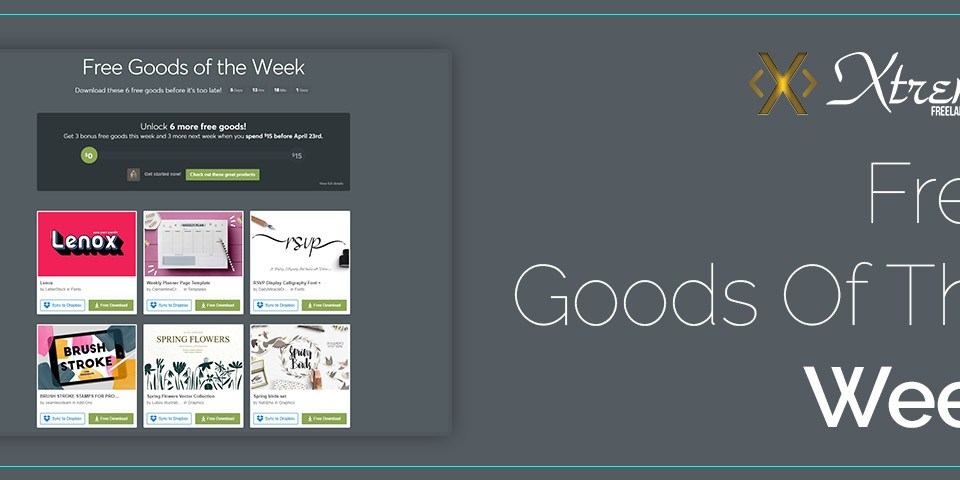 Free Goods Of The Week – Apr.08