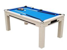 6 ft dining/pool table blue felt