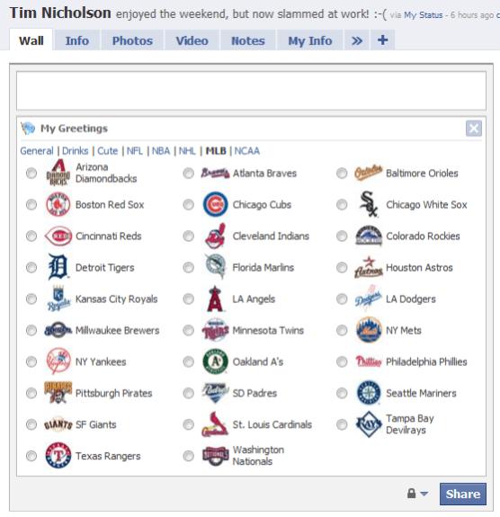 My Greetings - MLB Team Icons