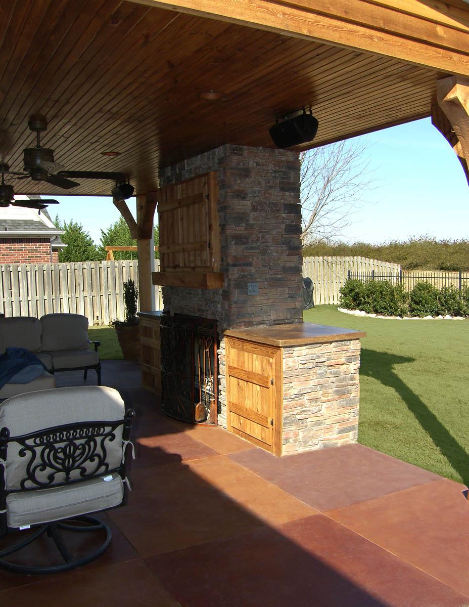 Decorative Concrete Patio   Xtreme Polishing System's ... on Concrete Slab Backyard Ideas id=62075