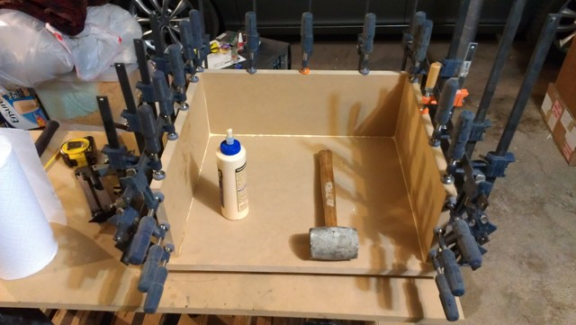 Custom sub box clamps MDF