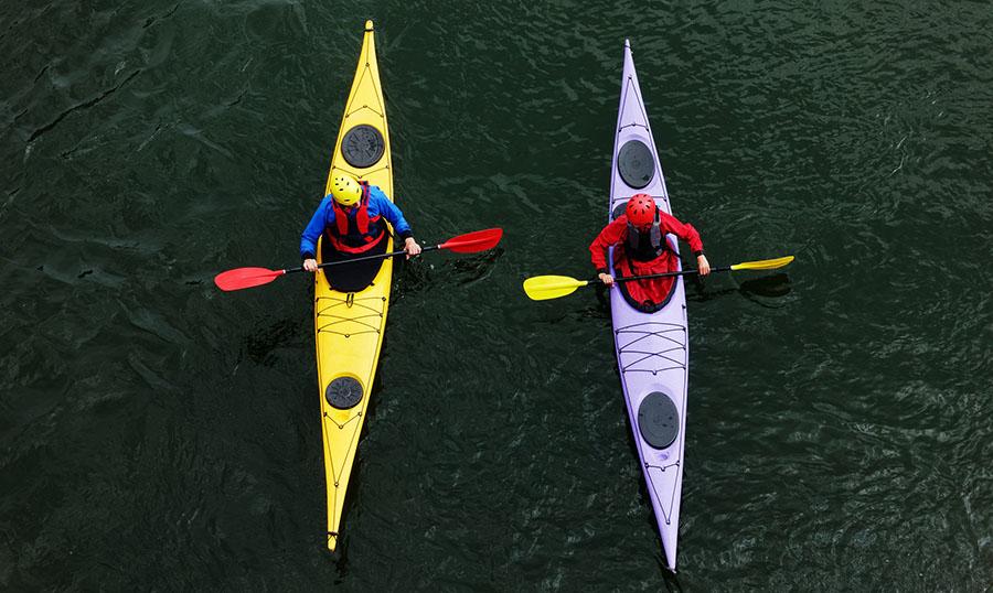 is kayaking good exercise - social