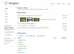The DropBox Web Interface
