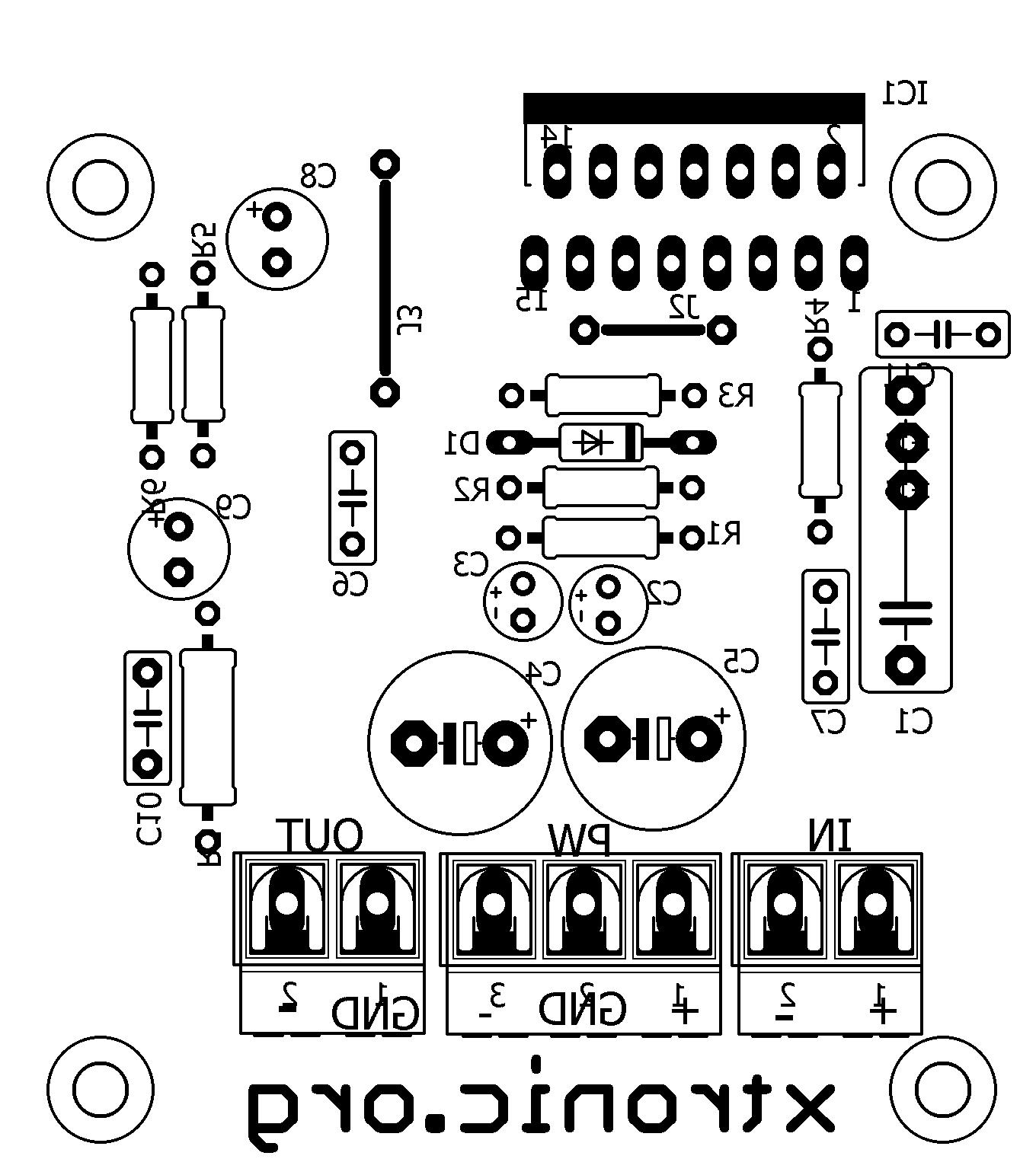 Audio Amplifier Mono With Ic Tda 100 Watts