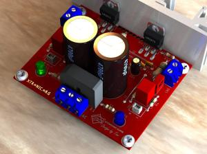 Circuit power amplifier stereo audio with LM1875  2 x 20